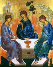 Trinity icon by St. Andre Rublev.